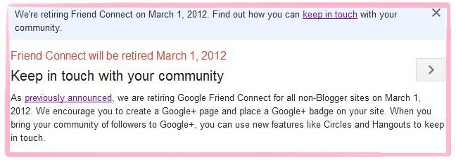 Google Friend Connect (GFC) Fails!   Aku, Dia dan Coretan Kita